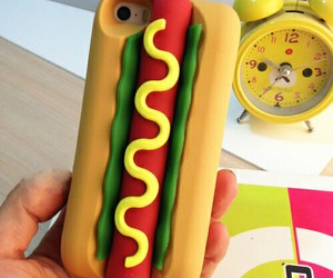 case, food, and hot dog image