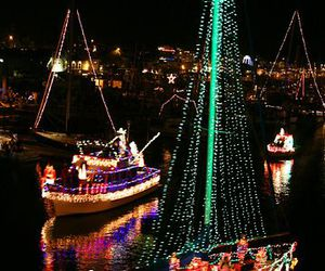 boat, Darkness, and christmas image