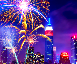 fireworks, city, and new york image