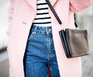 fashion, pink, and stripes image