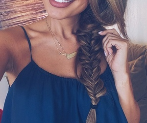 blue, top, and braid image