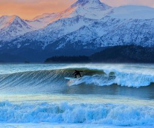 the life is beautiful, enjoy the good, and winter surfing image