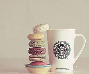 starbucks, coffee, and food image