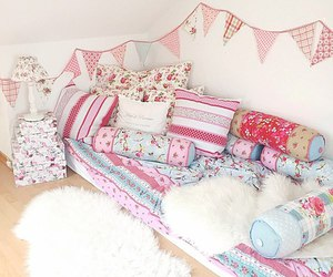 room, cute, and bed image