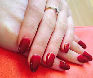 <3, nails, and red image