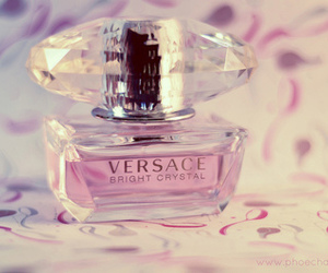 perfume, Versace, and pink image