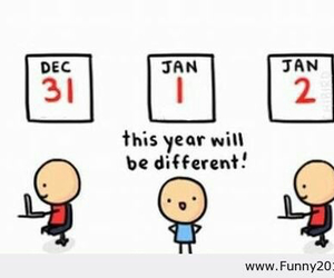 funny, new year, and different image