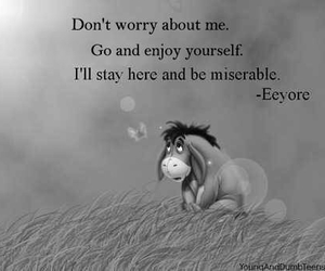 eeyore and sad image