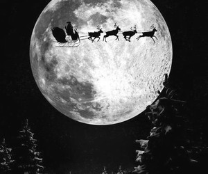 christmas, moon, and night image