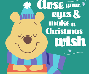 christmas, pooh, and wish image