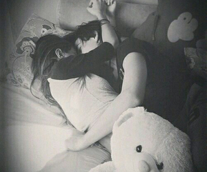 bed, cuddle, and I Love You image