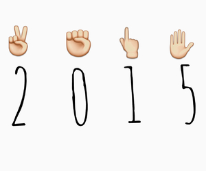 emoji, new year, and 2015 image