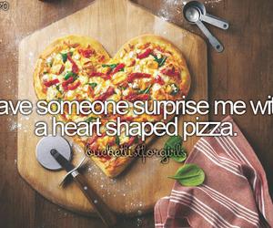 pizza, heart, and bucketlist image