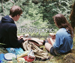 couple, picnic, and bucketlist image