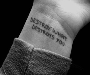 destroy, tattoo, and black and white image