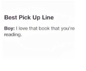 book, boy, and pick up line image