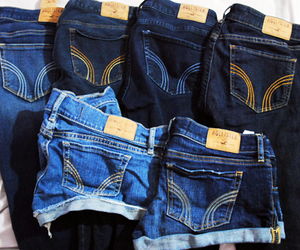 hollister, jeans, and shorts image