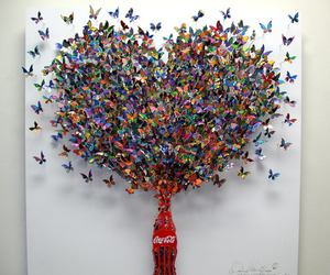 butterfly, art, and coca cola image