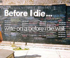 wall, write, and bucketlist image