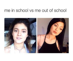 funny, kylie jenner, and school image