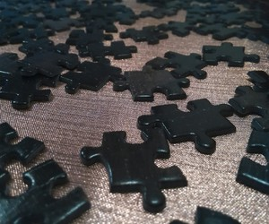 parts, puzzle, and black image