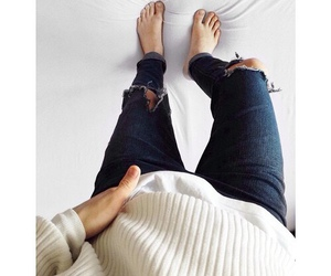 legs, sweater, and feets image