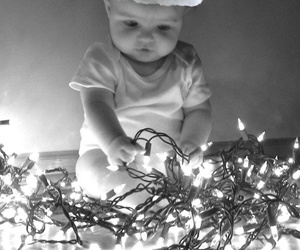 baby, christmas, and light image