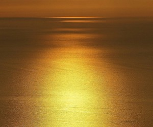evening, ocean, and yellow image