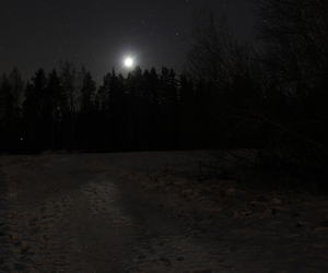 dark, finland, and moon image