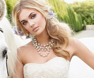 bridal, dress, and wedding gown image