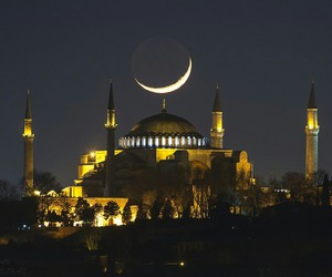 istanbul, mosque, and night image