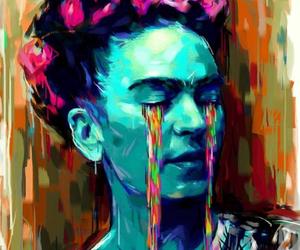 frida kahlo, art, and colors image