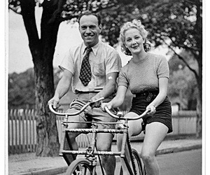bicycle, rower, and happy image