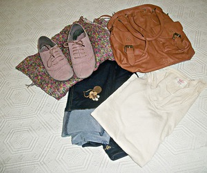 bag, clothes, and oxford image