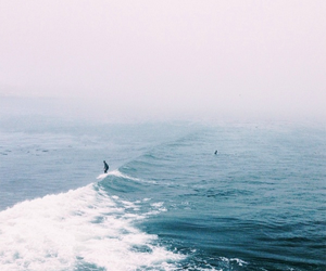 blue, waves, and hipster image