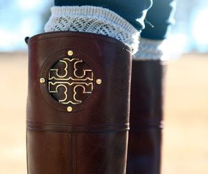 fashion, tory burch, and boots image
