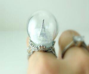 ring, paris, and eiffel tower image