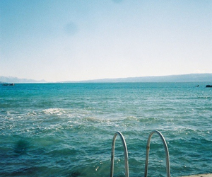 beach, water, and love image