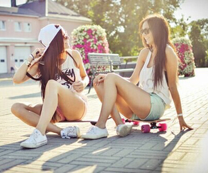 beautiful girl, best friends, and luxury image