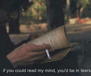 book, cigarettes, and reading image