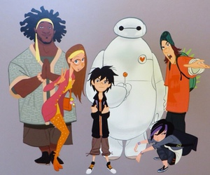 Fred, go go, and baymax image