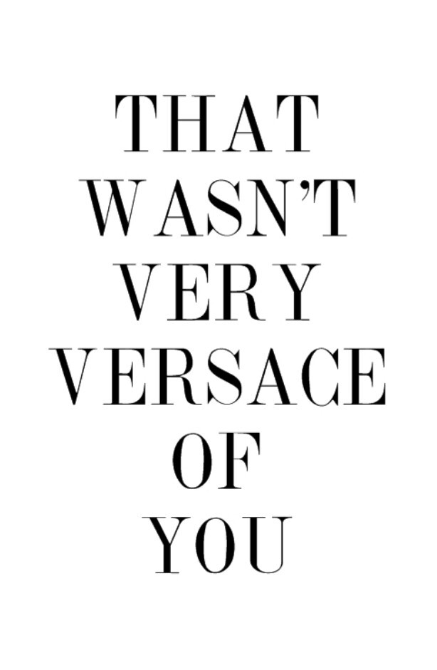 quote and Versace image
