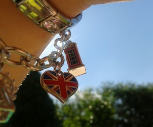blue skies, charms, and flags image