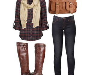 boots, fall, and outfit image