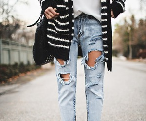 jeans, boots, and denim image