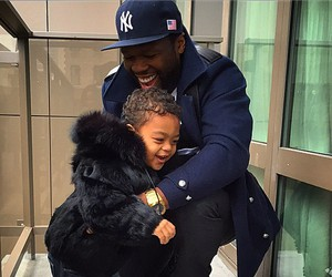 50 cent, son, and cute image