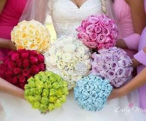 flowers, wedding, and bridesmaid image