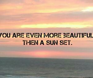 beautiful, sun set, and you image