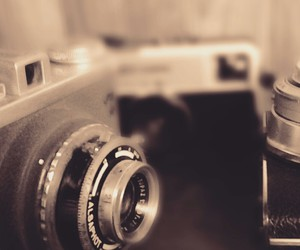 black and white, camera, and memories image