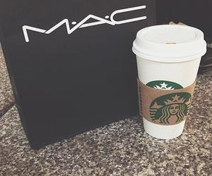mac, starbucks, and coffee image
